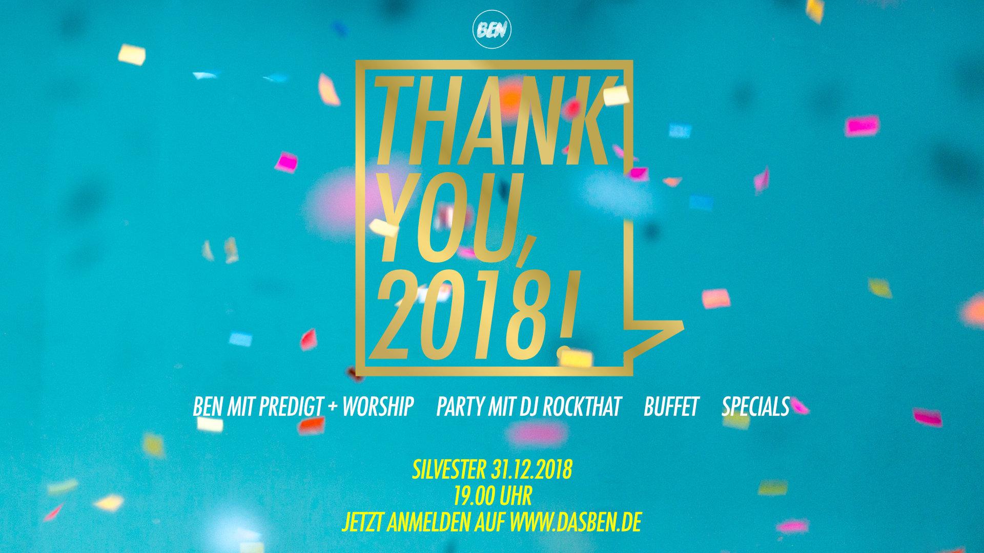 Thank You 2018 Das Ben